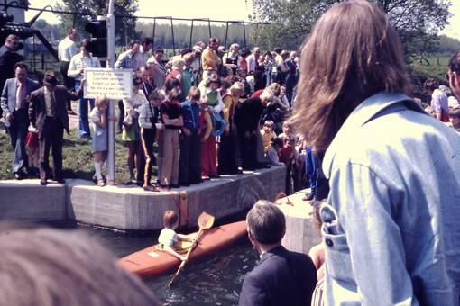 Eröffnung einer Bootsgasse