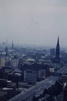 Blick auf die Stadt Hamburg