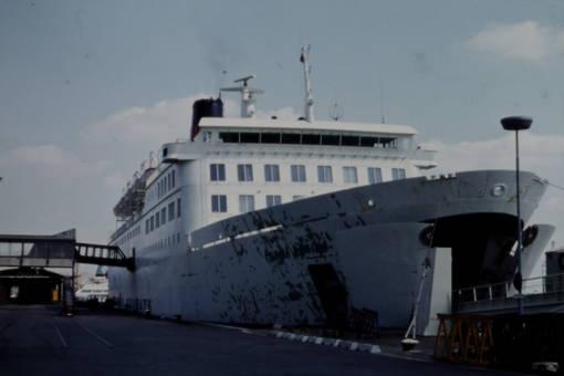 Fähre im Hafen von Esbjerg