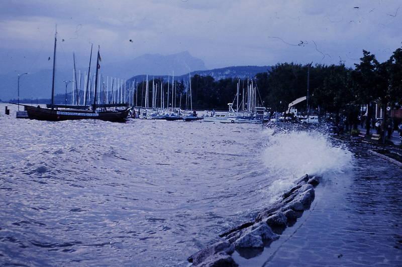 Bardolino, Gardasee, Promenade, schiff, Welle