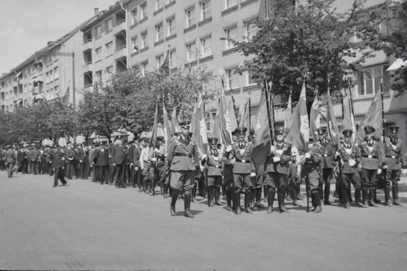 fahne, Nationalsozialismus, Parade, polizei, Uniform