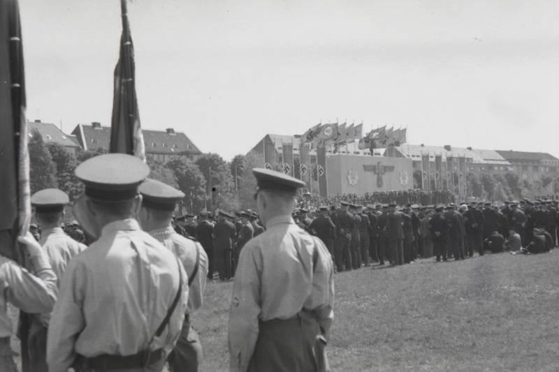 hakenkreuz, Nationalsozialismus, NS, Polizeiversammlung, Uniform