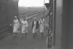 Verabschiedung am Bahnhof