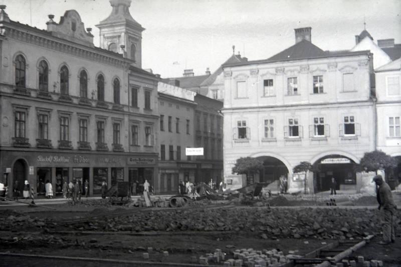 BAuarbeiten, Cieszyn, Demelplatz, Platz, Polen, Schlesien, stadt, Teschen