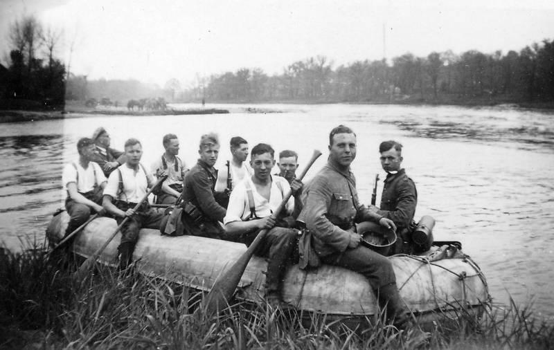 boot, paddel, Soldaten, wasser