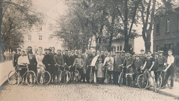Sanitäter und Fahrräder