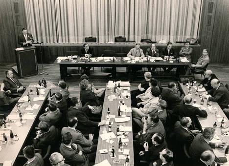 Gewerkschaftsversammlung