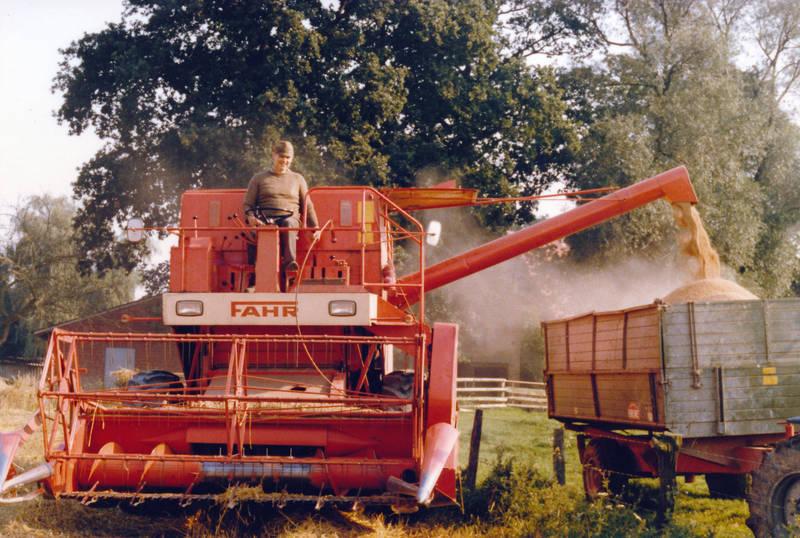 anhänger, korn, Landwirtschaft, Mähdrescher