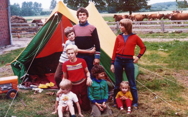 Bauernhof, Huhn, Kindheit, Kuh, zelt