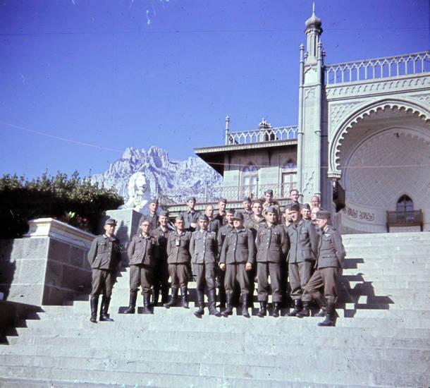 2.Weltkrieg, alupka, palast, Soldaten, Uniform, Woronzow-Palast, zweiter weltkrieg