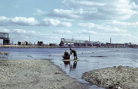 Bootsfahrt auf dem Dnepr