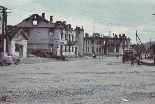 Ausgebrannte Häuser