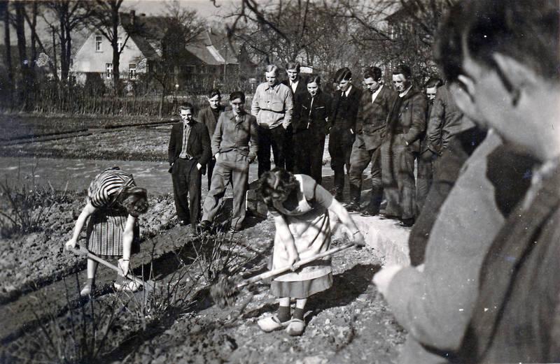 arbeit, Arbeiterin, garten, gartenarbeit, schaufel, umgraben