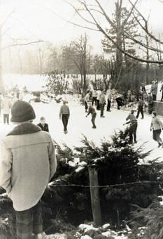 Schnee im Stadtgarten