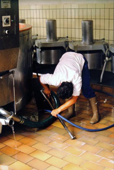 arbeit, Gummistiefel, Maschine, sauber, säubern