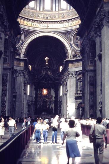 Bernini, Papstaltar, Petersdom, Rom