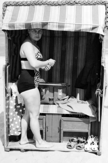 Bikini, schuhe, strand, Strandkorb, Tasche, urlaub, Urlaubsreise
