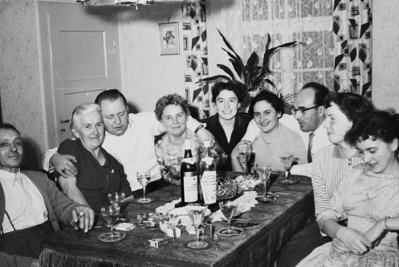 familie, feier, fest, Flasche, freunde, trinken, zimmerpflanze