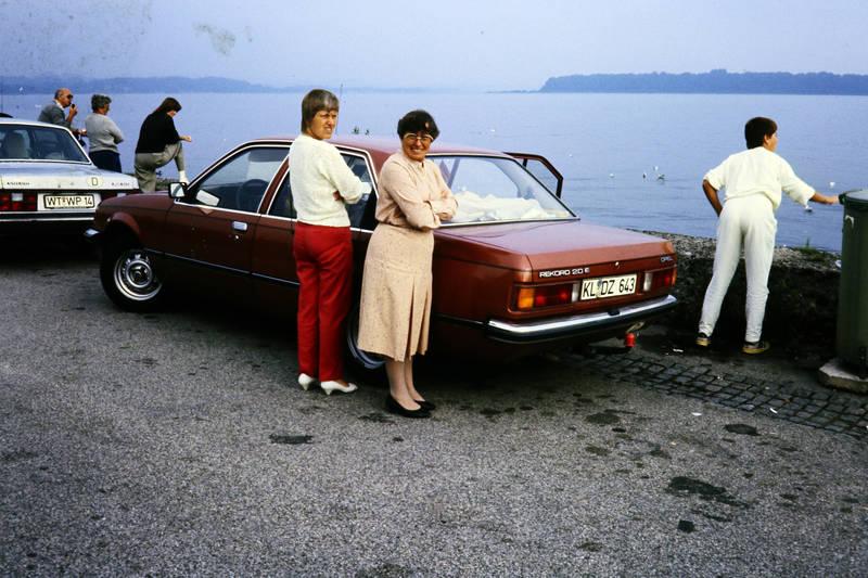 anhängerkupplung, ausflug, auto, Brille, KFZ, mode, Opel, PKW, rekord-e, see, volvo