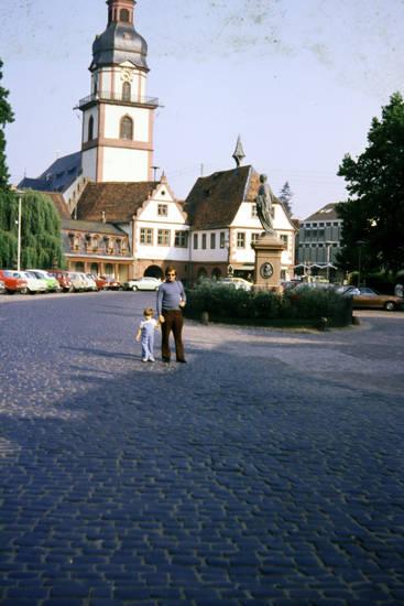 auto, KFZ, kirche, Parkplatz, PKW, Platz, vater