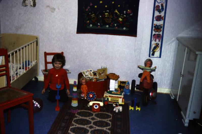 bett, kinderbett, Kinderzimmer, puppe, spielen, Spielzeug