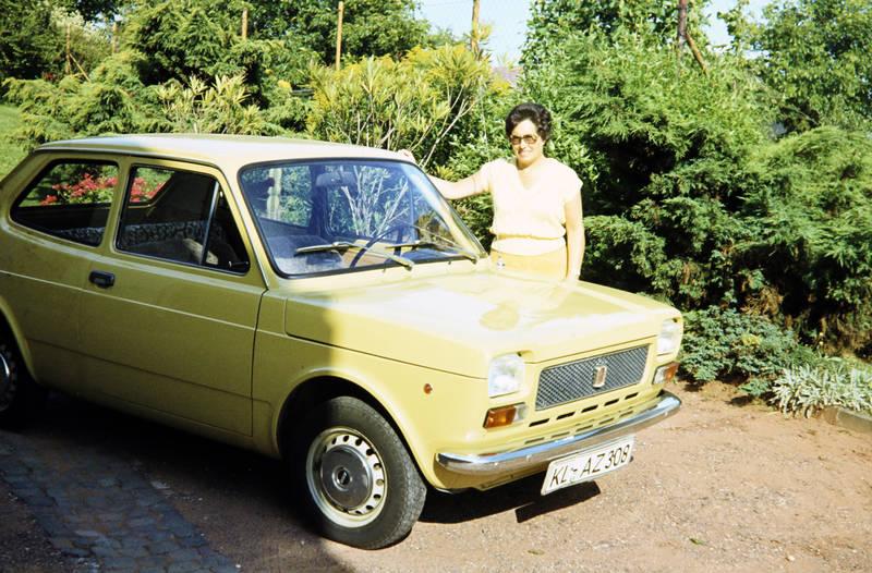auto, Brille, Fiat, Fiat 127, fiat-127, gelb, KFZ, PKW