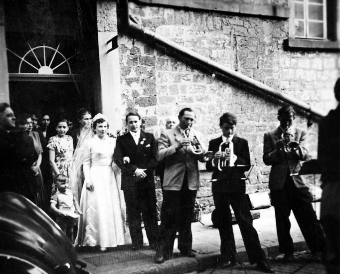 Blasmusik, Brautpaar, Hochzeit, Hochzeitspaar, musik, musiker