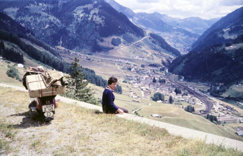 Gepäck, gotthardpass, KFZ, Koffer, pause, Roller, Schweiz, urlaub, Urlaubsreise