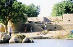 Lehmhütten in Niger