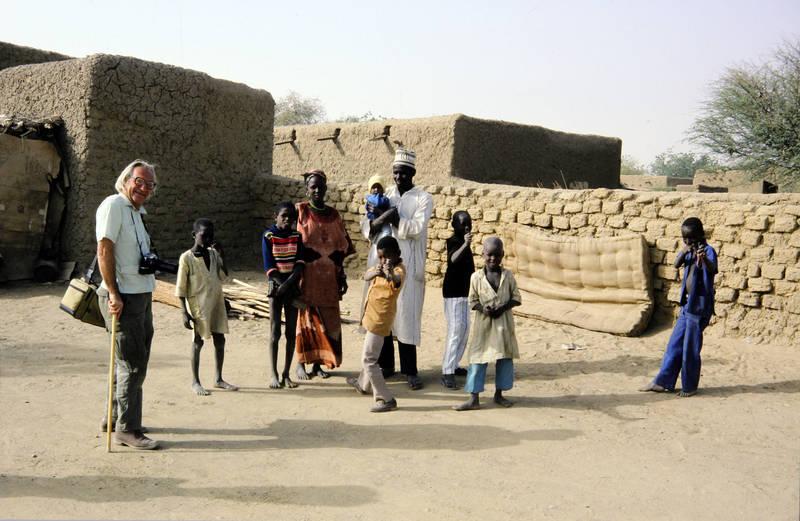 einheimischer, Fotoapparat, gehstock, Niger, tourist, Urlaubsreise