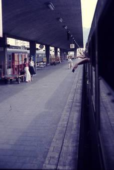 Abschied auf dem Bahnhof