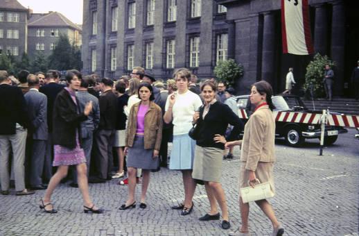 Auf Abiturfahrt in Berlin-West