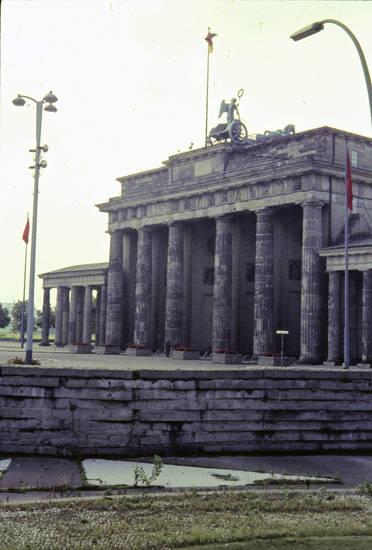 berlin, brandenburger tor, denkmal, mauer, Quadriga, West Berlin