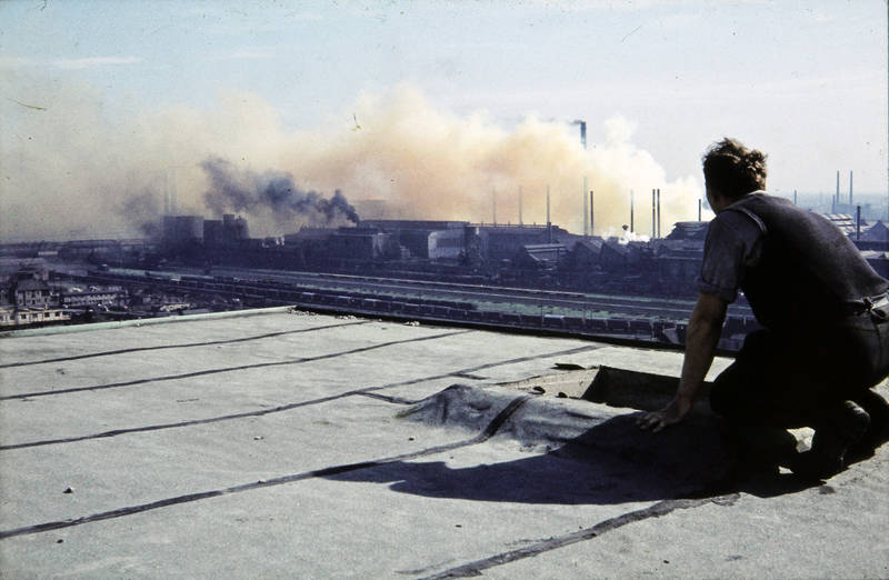 Dortmund, Rauch, Schornstein, Zeche Kaiserstuhl