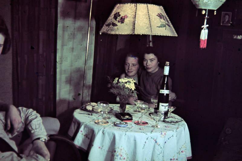 Blume, Flasche, Glas, lampe, Liebespaar
