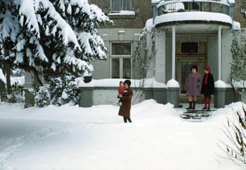 Schnee im Vorgarten