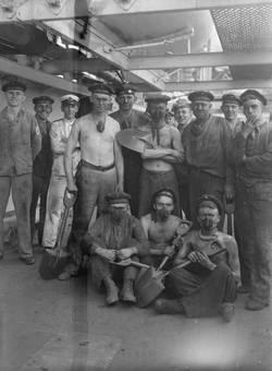 Arbeit auf dem Schiff