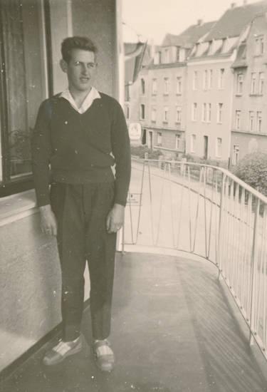 anzughose, Balkon, Geländer, mode, Pullover