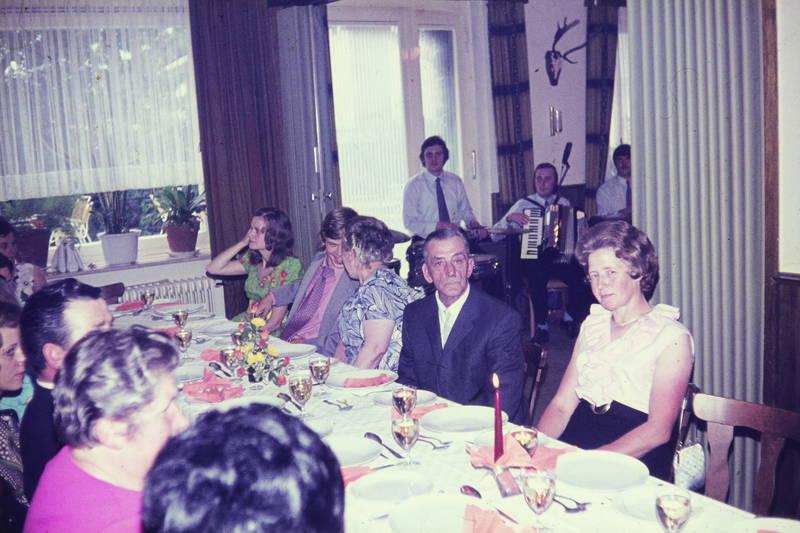Akkordeon, band, essen, Heirat, Hochzeit, musik, tafel, tisch, trommel
