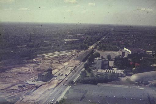 Bau der Avus-Raststätte
