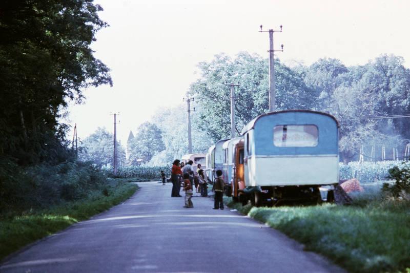 Kindheit, Loire, Straßenrand, Wohnwagen, Zigeuner