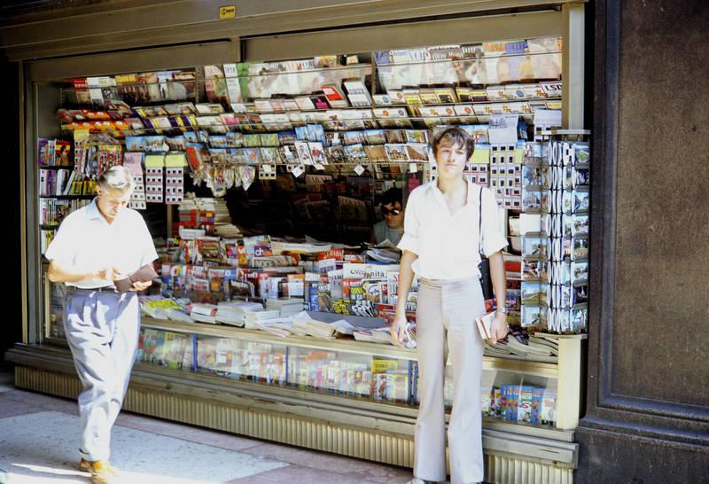 kiosk, Mailand, mode, reise, tourismus