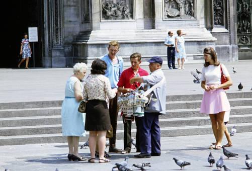 Straßenverkäufer in Mailand