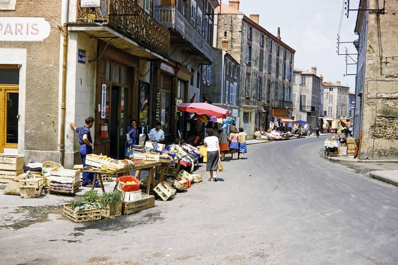 Frankreich, Issoire, markt, reise, Straßenverkäufer, tourismus