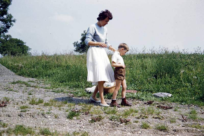 Kindheit, lederhose, picknick, Rast, reise
