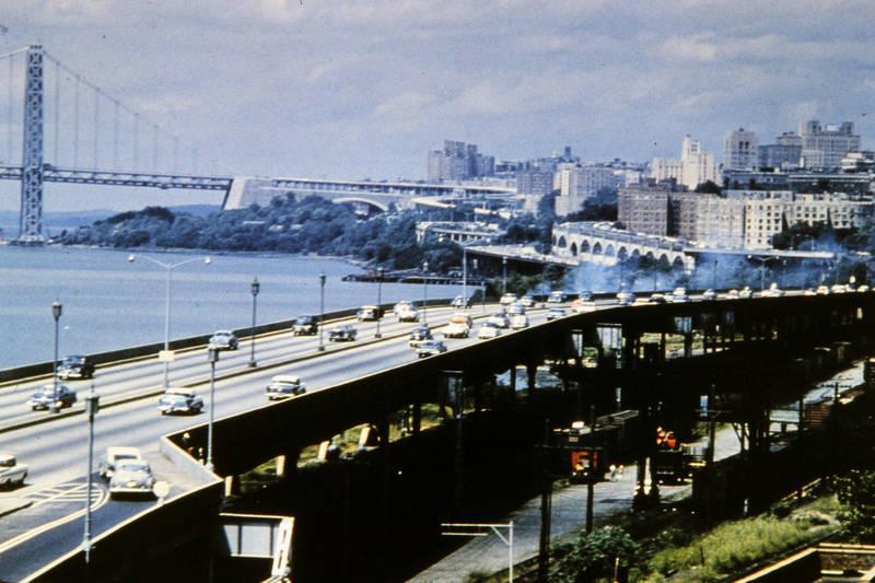 auto, George Washington Brücke, KFZ, new york, PKW, West Side Highway