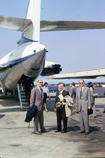 Air France, anzug, berlin, Caravelle, flieger, Flughafen Tegel, flugzeug, hut, Kegelausflug, mode