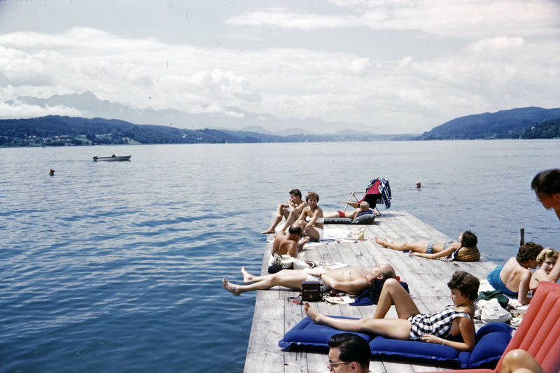 bademode, Badesteg, Luftmatratze, Österreich, Sommer, Sonne, urlaub, Urlaubsreise, wörther see