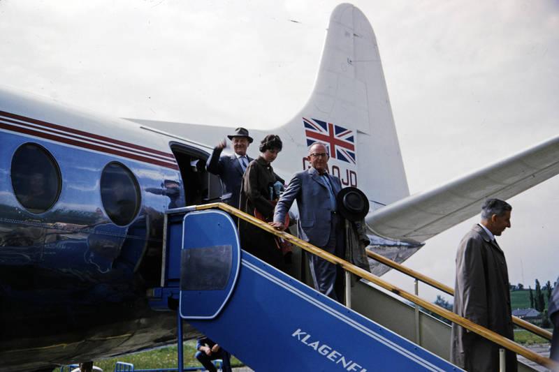 bea, British European Airways, flieger, Flughafen, Flughafen Klagenfurt, flugzeug, Klagenfurt, Österreich, passagier, Urlaubsreise, Vickers Viscount, wörther see