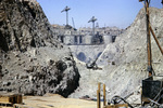 Bau des Hochdamms in Assuan